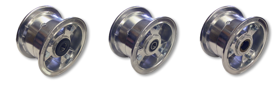 "5"" Tri-Star Wheels, 1 Precision BB, 1 Tapered Roller Bearing, 1 Live Axle"