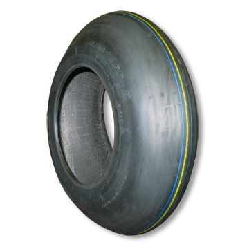"480/400 x 8 Slick Tire, 2 ply, 4.6"" Wide, 16.3"" OD, part no. 7004-2"