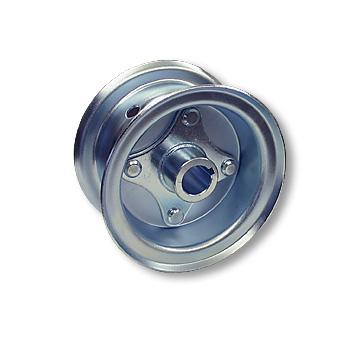 "Part No. 1032, 5"" Multi-Purpose Steel Wheel, 2 Halves & 1"" Live Axle Hub"