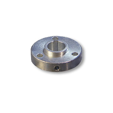 "HUB, STEEL, 2.25"" OD, 3/4"" BORE, 1/2"" THICK, 3/16"" KEYWAY, 3 HOLE ON 1-11/16"" BOLT CIRCLE, (P5256 PATTERN)part no. 2038"