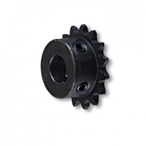 """B"" Type Engine Sprocket, Steel, #35 CHAIN, 5/8"" BORE, 3/16"" KEYWAY, 5/16-18 SET SCREW, 15 TOOTH, part no. 2129"