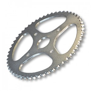 "Steel Sprocket, #35 Chain, 1.5"" Bore, 6 Holes, 5.25"" Bolt Circle, 72 Tooth, part no. 2165-60"