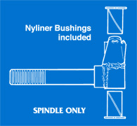 Spindle & Nyliner Bushings Illustration (No hardware)