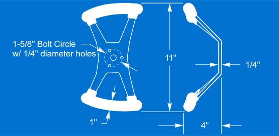 Butterfly Steering Wheel Dimensional Diagram