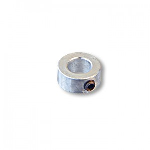 "One Piece Steel Locking Collar, with Set Screw, without Keyway, 3/4"" ID x 1-1/4"" OD x 9/16"" Wide, Zinc plated, part no. 8560"