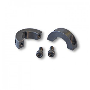 Split Locking Collar, steel, two Set Screws & Keyway