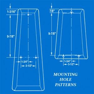 Mini-Bike Seat Mounting Hole Patterns Illustration