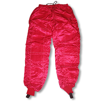 Part No. 1528, Satin Racing Pants, Red