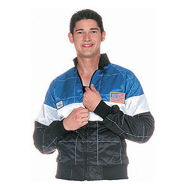 Part No. 1531, Adult Racing Jacket, Blue, Black & White