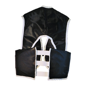 Part No. 1550, Azusa Vest, Black, Rear View