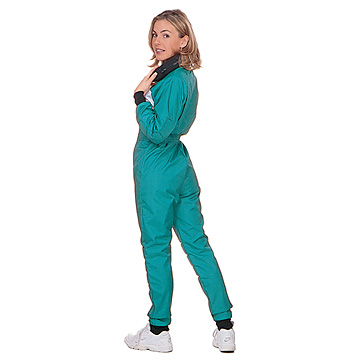 Part No. 1677, Adult Racing Suit, Nylon 420, Teal with White Chest Panel