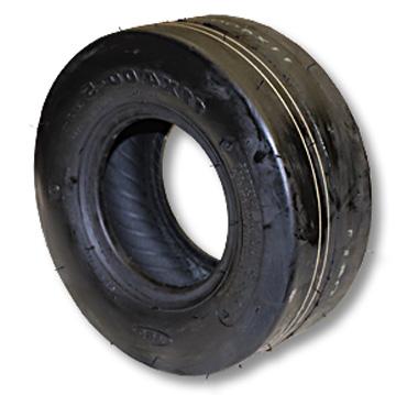 "Part No. 7006, Slick Tire, 11-400 x 5, 4 Ply, 4"" Wide, 10.8"" OD"