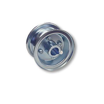 "Part No. 1030, 4"" Multi-Purpose Steel Wheel, 2 Halves & 1"" Live Axle Hub"