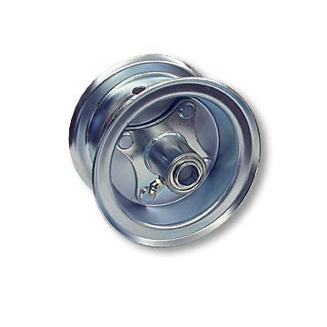 "Part No. 1033, 5"" Multi-Purpose Steel Wheel, 2 Halves & 3/4"" Ball Bearing Hub"