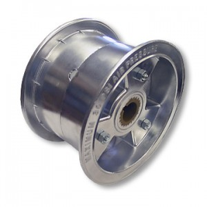 "6"" Tri-Star Aluminum Wheel, 4"" Wide with Steel Insert for Live Axle, 1"" to 3/4"" Step, Part No. 1117"