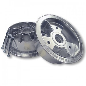 "6"" Aluminum Tri-Star Wheel, 4"" Wide, Two Halves with Nuts & Bolts Only, Part No. 1124"