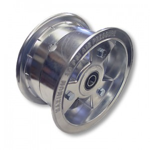 "6"" Tri-Star Aluminum Wheel, 3.5"" wide with 5/8"" Precision Ball Bearings, Part No. 1197"