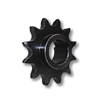"Part No. 2195, ""C"" Type Steel Sprocket, #40/#41 (#420) Chain, 3/4"" Bore, 12 Tooth, 3/16"" Keyway, No Set Screw"