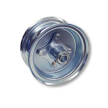 "Part No. 1035, 6"" Steel Wheel, 2 Halves & 3/4"" Ball Bearing Hub"