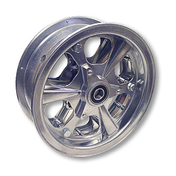 "Part No. 1174, 8"" Aluminum ""Spinner"" Wheel (3"" Wide) with 1/2"" Precision Ball Bearing"