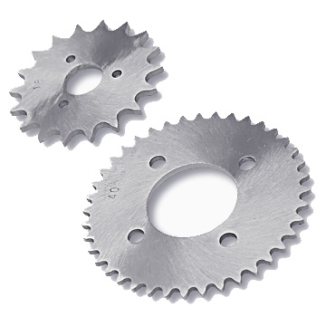 2 Custom Aluminum Sprockets, 18 tooth and 40 tooth