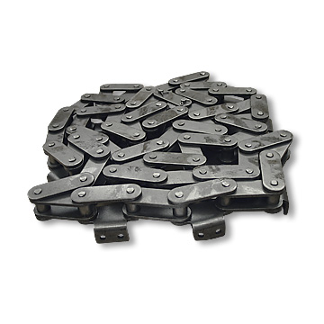 #C2080H CHAIN WITH A-2 ATTACHMENT EVERY PITCH, 10 FEET WITH CONNECTING LINK, part no. 4239