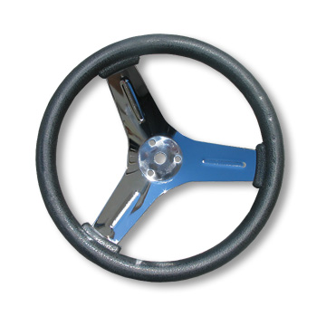 "10"" Competition Steering Wheel, Neoprene over Chrome-Plated Steel"