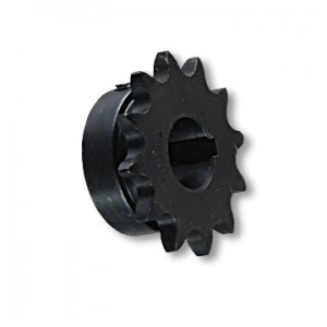 "SPROCKET - ""B"" TYPE, STEEL, #40/41 CHAIN, 3/4"" BORE, 3/16"" KEYWAY, 5/16-18 SET SCREWS, 12 TOOTH, part no. 2112"