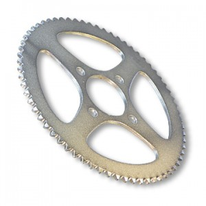 "Steel Sprocket, #40/41(#420) CHAIN, 2"" BORE, 4 HOLES, 2.875"" BOLT CIRCLE, (P5263) 54 TOOTH, part no. 2167-54"