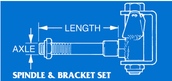 Spindle & Bracket Set Illustration