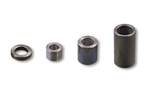 4 Steel Bushings / Spacers, Assorted Sizes