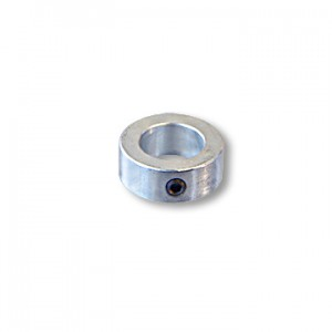"""One-Piece Steel Locking Collar, with Set Screw, without Keyway, 1"""" ID, 1-5/8"""" ID, 5/8"""" Wide, part no. 8565"""