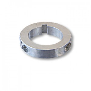 Split Locking Collar with Set Screws & keyway, Billet Aluminum