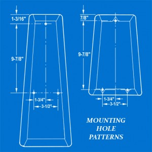 Mini-Bike Seat Mounting Hole Patterns Illustration