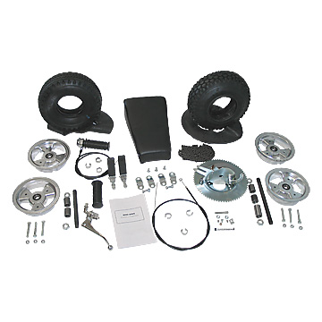 "Mini-Bike Kit, Less Frame, with 6"" Aluminum Wheels, Part No. 3541-LF"