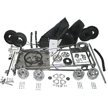 "Go-Kart Kit, with 5"" Aluminum Tri-Star Wheels, Part No. 3551"