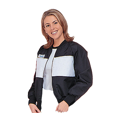 Part No. 1679, Azusa Classic Racing Jacket, Black with White Chest Panel