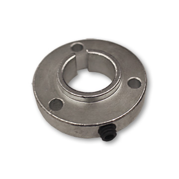 "Part No. 2040, Steel B-Type Sprocket Hub, 2.25"" OD, 5/8"" Bore, 1/2"" Thick, 3/16"" Keyway, 3-hole on 1-11/16"" Bolt Circle, P5256 Bolt Pattern, part no. 2037"