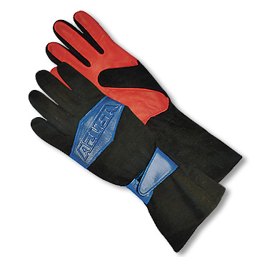 Part No. 1565, Nomex Racing Gloves, Blue & Red Samples