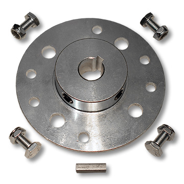 "Part No. 2567, Mini-Hub, Steel, Zinc Plated, 5/8"" Bore, 3/16"" Keyway, with Hardware Kit"